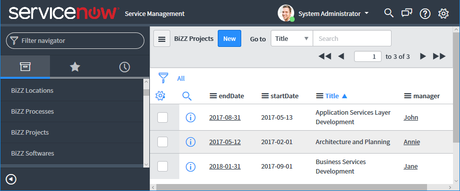 Structure of a ServiceNow connection - Support - BiZZdesign Support