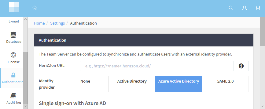 Configuring user synchronization and authentication with