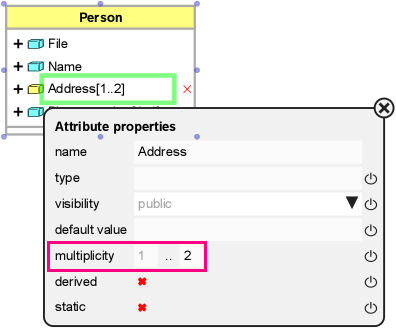 Setting The Multiplicity For A Uml Attribute Operation Or Association Support Bizzdesign Support